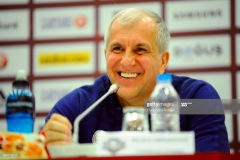 ISTANBUL, TURKEY - MAY 20:  Zeljko Obradovic, Head Coach of Fenerbahce Istanbul during the 2017 Turkish Airlines Euroleague Final Four Championship Game Press Conference at Sinan Erdem Dome on May 20, 2017 in Istanbul, Turkey.  (Photo by Francesco Richieri/Euroleague Basketball via Getty Images)