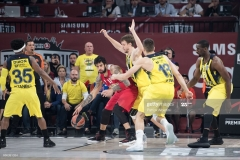 ISTANBUL, TURKEY - MAY 21:  Georgios Printezis in action during the Championship Game 2017 Turkish Airlines EuroLeague Final Four between Fenerbahce Istanbul v Olympiacos Piraeus at Sinan Erdem Dome on May 21, 2017 in Istanbul, Turkey.  (Photo by Patrick Albertini/Euroleague Basketball via Getty Images)