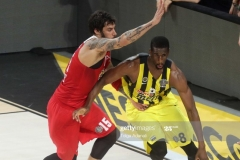 ISTANBUL, TURKEY - MAY 21: Ekpe Udoh, #8 of Fenerbahce Istanbul  in action during the Championship Game 2017 Turkish Airlines EuroLeague Final Four between Fenerbahce Istanbul v Olympiacos Piraeus at Sinan Erdem Dome on May 21, 2017 in Istanbul, Turkey.  (Photo by Tolga Adanali/Euroleague Basketball via Getty Images)
