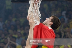 ISTANBUL, TURKEY - MAY 21: Jan Vesely, #24 of Fenerbahce Istanbul  in action during the Championship Game 2017 Turkish Airlines EuroLeague Final Four between Fenerbahce Istanbul v Olympiacos Piraeus at Sinan Erdem Dome on May 21, 2017 in Istanbul, Turkey.  (Photo by Edu Candel/Euroleague Basketball via Getty Images)