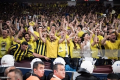 ISTANBUL, TURKEY - MAY 21:  Fenerbahce Istanbul«s supporters during the Championship Game 2017 Turkish Airlines EuroLeague Final Four between Fenerbahce Istanbul v Olympiacos Piraeus at Sinan Erdem Dome on May 21, 2017 in Istanbul, Turkey.  (Photo by Patrick Albertini/Euroleague Basketball via Getty Images)