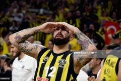 ISTANBUL, TURKEY - MAY 21:  Pero Antic, #12 of Fenerbahce Istanbul at the end of  the Championship Game 2017 Turkish Airlines EuroLeague Final Four between Fenerbahce Istanbul v Olympiacos Piraeus at Sinan Erdem Dome on May 21, 2017 in Istanbul, Turkey.  (Photo by Luca Sgamellotti/Euroleague Basketball via Getty Images)