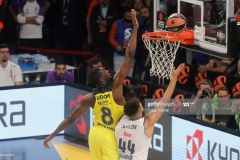 ISTANBUL, TURKEY - MAY 19: Ekpe Udoh, #8 of Fenerbahce Istanbul competes with Jeffery Taylor, #44 of Real Madrid in action during the Turkish Airlines EuroLeague Final Four Semifinal A game between Fenerbahce Istanbul and Real  Madrid at Sinan Erdem Dome on May 19, 2017 in Istanbul, Turkey.  (Photo by Tolga Adanali/Euroleague Basketball via Getty Images)