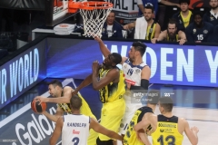 ISTANBUL, TURKEY - MAY 19: Kostas Sloukas, #16 and Ekpe Udoh, #8 of Fenerbahce Istanbul  in action during the Turkish Airlines EuroLeague Final Four Semifinal A game between Fenerbahce Istanbul v Real  Madrid at Sinan Erdem Dome on May 19, 2017 in Istanbul, Turkey.  (Photo by Tolga Adanali/Euroleague Basketball via Getty Images)