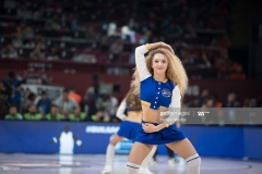 ISTANBUL, TURKEY - MAY 19:  cheerleader during the Turkish Airlines EuroLeague Final Four Semifinal A game between Fenerbahce Istanbul v Real  Madrid at Sinan Erdem Dome on May 19, 2017 in Istanbul, Turkey.  (Photo by Patrick Albertini/Euroleague Basketball via Getty Images)