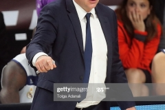 ISTANBUL, TURKEY - MAY 19: Pablo Laso, Head Coach of Real Madrid in action during the Turkish Airlines EuroLeague Final Four Semifinal A game between Fenerbahce Istanbul v Real  Madrid at Sinan Erdem Dome on May 19, 2017 in Istanbul, Turkey.  (Photo by Tolga Adanali/Euroleague Basketball via Getty Images)