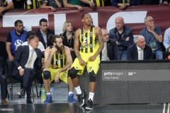 ISTANBUL, TURKEY - MAY 19: James Nunnally, #21 and Luigi Datome, #70 of Fenerbahce in action during the Turkish Airlines EuroLeague Final Four Semifinal A game between Fenerbahce Istanbul v Real  Madrid at Sinan Erdem Dome on May 19, 2017 in Istanbul, Turkey.  (Photo by Tolga Adanali/Euroleague Basketball via Getty Images)