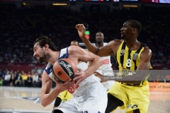 ISTANBUL, TURKEY - MAY 19: Sergio Llull, #23 of Real Madrid in action during the Turkish Airlines EuroLeague Final Four Semifinal A game between Fenerbahce Istanbul v Real  Madrid at Sinan Erdem Dome on May 19, 2017 in Istanbul, Turkey.  (Photo by Luca Sgamellotti/Euroleague Basketball via Getty Images)