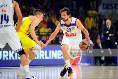ISTANBUL, TURKEY - MAY 19:  Sergio Llull, #23 of Real Madrid in action during the Turkish Airlines EuroLeague Final Four Semifinal A game between Fenerbahce Istanbul v Real  Madrid at Sinan Erdem Dome on May 19, 2017 in Istanbul, Turkey.  (Photo by Francesco Richieri/Euroleague Basketball via Getty Images)