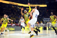 ISTANBUL, TURKEY - MAY 19:  Sergio Llull, #23 of Real Madrid competes withBobby Dixon, #35 of Fenerbahce Istanbul  during the Turkish Airlines EuroLeague Final Four Semifinal A game between Fenerbahce Istanbul v Real  Madrid at Sinan Erdem Dome on May 19, 2017 in Istanbul, Turkey.  (Photo by Francesco Richieri/Euroleague Basketball via Getty Images)