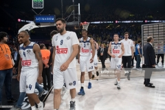 ISTANBUL, TURKEY - MAY 19:  Players of Real Madrid disapointed at the end of the Turkish Airlines EuroLeague Final Four Semifinal A game between Fenerbahce Istanbul v Real  Madrid at Sinan Erdem Dome on May 19, 2017 in Istanbul, Turkey.  (Photo by Rodolfo Molina/Euroleague Basketball via Getty Images)