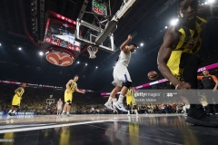 ISTANBUL, TURKEY - MAY 19:  Gustavo Ayon, #14 of Real Madrid in action during the Turkish Airlines EuroLeague Final Four Semifinal A game between Fenerbahce Istanbul v Real  Madrid at Sinan Erdem Dome on May 19, 2017 in Istanbul, Turkey.  (Photo by Rodolfo Molina/Euroleague Basketball via Getty Images)