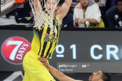 ISTANBUL, TURKEY - MAY 19: Jan Vesely, #24 of Fenerbahce Istanbul in action during the Turkish Airlines EuroLeague Final Four Semifinal A game between Fenerbahce Istanbul and Real  Madrid at Sinan Erdem Dome on May 19, 2017 in Istanbul, Turkey.  (Photo by Tolga Adanali/Euroleague Basketball via Getty Images)