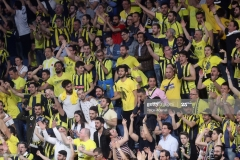 ISTANBUL, TURKEY - MAY 19: Fenerbahce supporters in action during the Turkish Airlines EuroLeague Final Four Semifinal A game between Fenerbahce Istanbul v Real  Madrid at Sinan Erdem Dome on May 19, 2017 in Istanbul, Turkey.  (Photo by Tolga Adanali/Euroleague Basketball via Getty Images)