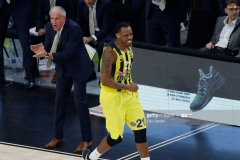 ISTANBUL, TURKEY - MAY 19: James Nunnally, #21 of Fenerbahce Istanbul  in action during the Turkish Airlines EuroLeague Final Four Semifinal A game between Fenerbahce Istanbul v Real  Madrid at Sinan Erdem Dome on May 19, 2017 in Istanbul, Turkey.  (Photo by Edu Candel/Euroleague Basketball via Getty Images)