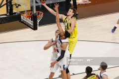 ISTANBUL, TURKEY - MAY 19:  Jan Vesely, #24 of Fenerbahce Istanbul competes with Gustavo Ayon, #14 of Real Madrid in action during the Turkish Airlines EuroLeague Final Four Semifinal A game between Fenerbahce Istanbul v Real  Madrid at Sinan Erdem Dome on May 19, 2017 in Istanbul, Turkey.  (Photo by Edu Candel/Euroleague Basketball via Getty Images)