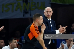 ISTANBUL, TURKEY - MAY 19: Pablo Laso, Head Coach of Real Madrid  in action during the Turkish Airlines EuroLeague Final Four Semifinal A game between Fenerbahce Istanbul v Real  Madrid at Sinan Erdem Dome on May 19, 2017 in Istanbul, Turkey.  (Photo by Edu Candel/Euroleague Basketball via Getty Images)