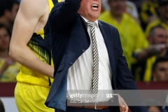 ISTANBUL, TURKEY - MAY 19: Zeljko Obradovic, Head Coach of Fenerbahce Istanbul  in action during the Turkish Airlines EuroLeague Final Four Semifinal A game between Fenerbahce Istanbul v Real  Madrid at Sinan Erdem Dome on May 19, 2017 in Istanbul, Turkey.  (Photo by Edu Candel/Euroleague Basketball via Getty Images)