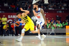 ISTANBUL, TURKEY - MAY 19:  Bogdan Bogdanovic, #13 of Fenerbahce Istanbul competes with Jeffery Taylor, #44 of Real Madrid during the Turkish Airlines EuroLeague Final Four Semifinal A game between Fenerbahce Istanbul v Real  Madrid at Sinan Erdem Dome on May 19, 2017 in Istanbul, Turkey.  (Photo by Francesco Richieri/Euroleague Basketball via Getty Images)
