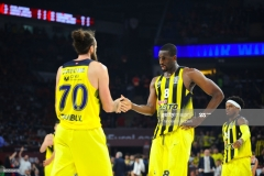 ISTANBUL, TURKEY - MAY 19:  Luigi Datome, #70 of Fenerbahce Istanbul and Ekpe Udoh, #8 of Fenerbahce Istanbul  during the Turkish Airlines EuroLeague Final Four Semifinal A game between Fenerbahce Istanbul v Real  Madrid at Sinan Erdem Dome on May 19, 2017 in Istanbul, Turkey.  (Photo by Francesco Richieri/Euroleague Basketball via Getty Images)