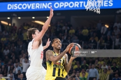 ISTANBUL, TURKEY - MAY 19:  James Nunnally, #21 of Fenerbahce Istanbul competes with Sergio Llull, #23 of Real Madrid during the Turkish Airlines EuroLeague Final Four Semifinal A game between Fenerbahce Istanbul v Real  Madrid at Sinan Erdem Dome on May 19, 2017 in Istanbul, Turkey.  (Photo by Patrick Albertini/Euroleague Basketball via Getty Images)