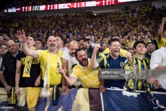 ISTANBUL, TURKEY - MAY 19:  Supporters during the Turkish Airlines EuroLeague Final Four Semifinal A game between Fenerbahce Istanbul v Real  Madrid at Sinan Erdem Dome on May 19, 2017 in Istanbul, Turkey.  (Photo by Patrick Albertini/Euroleague Basketball via Getty Images)