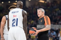 ISTANBUL, TURKEY - MAY 19:  Luigi Lamonica, referee of Turkish Airlines EuroLeague during the Turkish Airlines EuroLeague Final Four Semifinal A game between Fenerbahce Istanbul v Real  Madrid at Sinan Erdem Dome on May 19, 2017 in Istanbul, Turkey.  (Photo by Patrick Albertini/Euroleague Basketball via Getty Images)