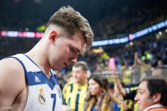 ISTANBUL, TURKEY - MAY 19:  Luka Doncic, #7 of Real Madrid at the and of the Turkish Airlines EuroLeague Final Four Semifinal A game between Fenerbahce Istanbul v Real  Madrid at Sinan Erdem Dome on May 19, 2017 in Istanbul, Turkey.  (Photo by Patrick Albertini/Euroleague Basketball via Getty Images)