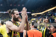 ISTANBUL, TURKEY - MAY 19:  Luigi Datome, #70 of Fenerbahce Istanbul at the end of the Turkish Airlines EuroLeague Final Four Semifinal A game between Fenerbahce Istanbul v Real  Madrid at Sinan Erdem Dome on May 19, 2017 in Istanbul, Turkey.  (Photo by Patrick Albertini/Euroleague Basketball via Getty Images)