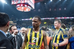 ISTANBUL, TURKEY - MAY 19:  James Nunnally, #21 of Fenerbahce Istanbul at the and of the Turkish Airlines EuroLeague Final Four Semifinal A game between Fenerbahce Istanbul v Real  Madrid at Sinan Erdem Dome on May 19, 2017 in Istanbul, Turkey.  (Photo by Patrick Albertini/Euroleague Basketball via Getty Images)
