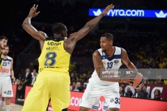 ISTANBUL, TURKEY - MAY 19: Trey Thompinks, #33 of Real Madrid in action during the Turkish Airlines EuroLeague Final Four Semifinal A game between Fenerbahce Istanbul v Real Madrid at Sinan Erdem Dome on May 19, 2017 in Istanbul, Turkey. (Photo by Luca Sgamellotti/Euroleague Basketball via Getty Images)