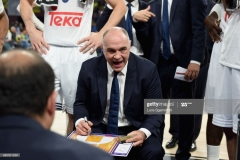 ISTANBUL, TURKEY - MAY 19: Pablo Laso, Head Coach of Real Madrid during the Turkish Airlines EuroLeague Final Four Semifinal A game between Fenerbahce Istanbul v Real Madrid at Sinan Erdem Dome on May 19, 2017 in Istanbul, Turkey. (Photo by Luca Sgamellotti/Euroleague Basketball via Getty Images)