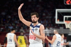 ISTANBUL, TURKEY - MAY 19: Sergio Llull, #23 of Real Madrid during the Turkish Airlines EuroLeague Final Four Semifinal A game between Fenerbahce Istanbul v Real Madrid at Sinan Erdem Dome on May 19, 2017 in Istanbul, Turkey. (Photo by Luca Sgamellotti/Euroleague Basketball via Getty Images)