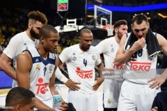 ISTANBUL, TURKEY - MAY 19: Real Madrid team during a time out during the Turkish Airlines EuroLeague Final Four Semifinal A game between Fenerbahce Istanbul v Real Madrid at Sinan Erdem Dome on May 19, 2017 in Istanbul, Turkey. (Photo by Luca Sgamellotti/Euroleague Basketball via Getty Images)