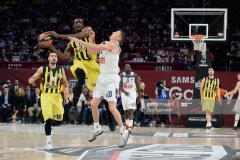 ISTANBUL, TURKEY - MAY 19: Ekpe Udoh, #8 of Fenerbahce Istanbul in action during the Turkish Airlines EuroLeague Final Four Semifinal A game between Fenerbahce Istanbul v Real  Madrid at Sinan Erdem Dome on May 19, 2017 in Istanbul, Turkey.  (Photo by Luca Sgamellotti/Euroleague Basketball via Getty Images)