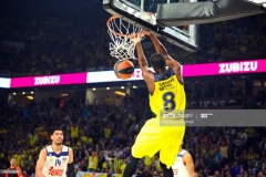 ISTANBUL, TURKEY - MAY 19:  Ekpe Udoh, #8 of Fenerbahce Istanbul in action during the Turkish Airlines EuroLeague Final Four Semifinal A game between Fenerbahce Istanbul v Real  Madrid at Sinan Erdem Dome on May 19, 2017 in Istanbul, Turkey.  (Photo by Francesco Richieri/Euroleague Basketball via Getty Images)