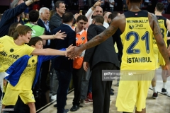ISTANBUL, TURKEY - MAY 19: Fenerbahce Istanbul supporters during the Turkish Airlines EuroLeague Final Four Semifinal A game between Fenerbahce Istanbul v Real  Madrid at Sinan Erdem Dome on May 19, 2017 in Istanbul, Turkey.  (Photo by Luca Sgamellotti/Euroleague Basketball via Getty Images)