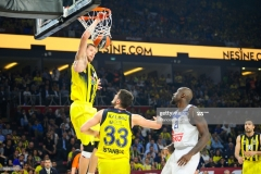 ISTANBUL, TURKEY - MAY 19:  Jan Vesely, #24 of Fenerbahce Istanbul in action during the Turkish Airlines EuroLeague Final Four Semifinal A game between Fenerbahce Istanbul v Real  Madrid at Sinan Erdem Dome on May 19, 2017 in Istanbul, Turkey.  (Photo by Francesco Richieri/Euroleague Basketball via Getty Images)