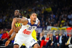 ISTANBUL, TURKEY - MAY 19:  Trey Thompinks, #33 of Real Madrid competes with Ekpe Udoh, #8 of Fenerbahce Istanbul during the Turkish Airlines EuroLeague Final Four Semifinal A game between Fenerbahce Istanbul v Real  Madrid at Sinan Erdem Dome on May 19, 2017 in Istanbul, Turkey.  (Photo by Francesco Richieri/Euroleague Basketball via Getty Images)