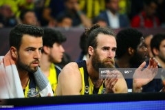 ISTANBUL, TURKEY - MAY 19:  Melih Mahmutoglu, #10 of Fenerbahce Istanbul and Luigi Datome, #70 of Fenerbahce Istanbul during the Turkish Airlines EuroLeague Final Four Semifinal A game between Fenerbahce Istanbul v Real  Madrid at Sinan Erdem Dome on May 19, 2017 in Istanbul, Turkey.  (Photo by Francesco Richieri/Euroleague Basketball via Getty Images)