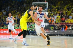 ISTANBUL, TURKEY - MAY 19:  Sergio Llull, #23 of Real Madrid competes with Kostas Sloukas, #16 of Fenerbahce Istanbul during the Turkish Airlines EuroLeague Final Four Semifinal A game between Fenerbahce Istanbul v Real  Madrid at Sinan Erdem Dome on May 19, 2017 in Istanbul, Turkey.  (Photo by Francesco Richieri/Euroleague Basketball via Getty Images)