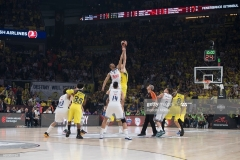 ISTANBUL, TURKEY - MAY 19:  Tip off of the Turkish Airlines EuroLeague Final Four Semifinal A game between Fenerbahce Istanbul v Real  Madrid at Sinan Erdem Dome on May 19, 2017 in Istanbul, Turkey.  (Photo by Rodolfo Molina/Euroleague Basketball via Getty Images)