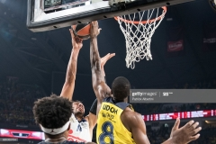 ISTANBUL, TURKEY - MAY 19:  Gustavo Ayon, #14 of Real Madrid competes with Ekpe Udoh, #8 of Fenerbahce Istanbul during the Turkish Airlines EuroLeague Final Four Semifinal A game between Fenerbahce Istanbul v Real  Madrid at Sinan Erdem Dome on May 19, 2017 in Istanbul, Turkey.  (Photo by Patrick Albertini/Euroleague Basketball via Getty Images)