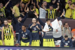 ISTANBUL, TURKEY - MAY 19: Fenerbahce Istanbul players in action during the Turkish Airlines EuroLeague Final Four Semifinal A game between Fenerbahce Istanbul and Real  Madrid at Sinan Erdem Dome on May 19, 2017 in Istanbul, Turkey.  (Photo by Tolga Adanali/Euroleague Basketball via Getty Images)