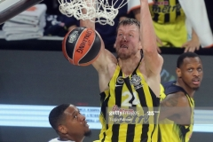 ISTANBUL, TURKEY - MAY 19: Jan Vesely, #24 of Fenerbahce Istanbul in action during the Turkish Airlines EuroLeague Final Four Semifinal A game between Fenerbahce Istanbul v Real  Madrid at Sinan Erdem Dome on May 19, 2017 in Istanbul, Turkey.  (Photo by Tolga Adanali/Euroleague Basketball via Getty Images)
