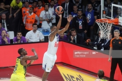 ISTANBUL, TURKEY - MAY 19: Trey Thompinks, #33 of Real Madrid in action during the Turkish Airlines EuroLeague Final Four Semifinal A game between Fenerbahce Istanbul v Real  Madrid at Sinan Erdem Dome on May 19, 2017 in Istanbul, Turkey.  (Photo by Tolga Adanali/Euroleague Basketball via Getty Images)