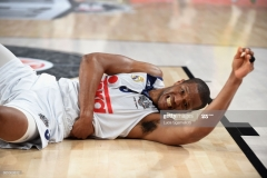ISTANBUL, TURKEY - MAY 19:  Anthony Randolph, #3 of Real Madrid suffer an injury during the Turkish Airlines EuroLeague Final Four Semifinal A game between Fenerbahce Istanbul v Real  Madrid at Sinan Erdem Dome on May 19, 2017 in Istanbul, Turkey.  (Photo by Luca Sgamellotti/Euroleague Basketball via Getty Images)