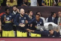 ISTANBUL, TURKEY - MAY 19:  Fenerbahce players at bench during the Turkish Airlines EuroLeague Final Four Semifinal A game between Fenerbahce Istanbul v Real  Madrid at Sinan Erdem Dome on May 19, 2017 in Istanbul, Turkey.  (Photo by Tolga Adanali/Euroleague Basketball via Getty Images)