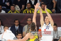 ISTANBUL, TURKEY - MAY 19: Jaycee Carroll, #20 of Real Madrid in action during the Turkish Airlines EuroLeague Final Four Semifinal A game between Fenerbahce Istanbul v Real  Madrid at Sinan Erdem Dome on May 19, 2017 in Istanbul, Turkey.  (Photo by Tolga Adanali/Euroleague Basketball via Getty Images)