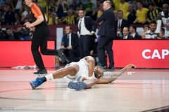 ISTANBUL, TURKEY - MAY 19:  Anthony Randolph, #3 of Real Madrid injured during the Turkish Airlines EuroLeague Final Four Semifinal A game between Fenerbahce Istanbul v Real  Madrid at Sinan Erdem Dome on May 19, 2017 in Istanbul, Turkey.  (Photo by Patrick Albertini/Euroleague Basketball via Getty Images)